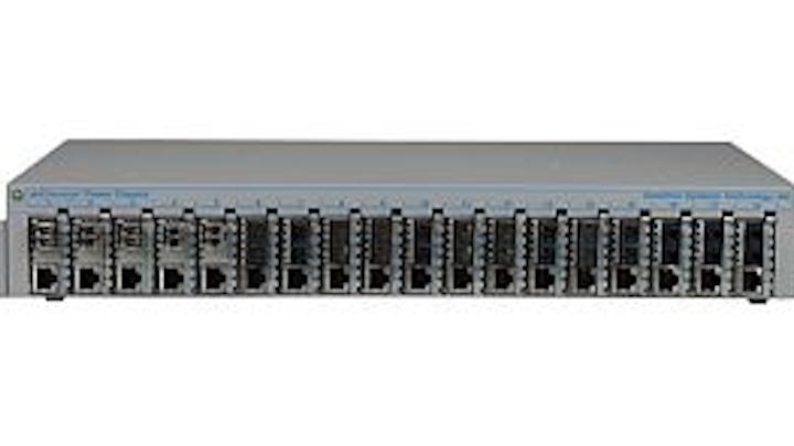 Omnitron Systems Technology miConverter 18-module chassis OmniConverter FPoE/SL media converter