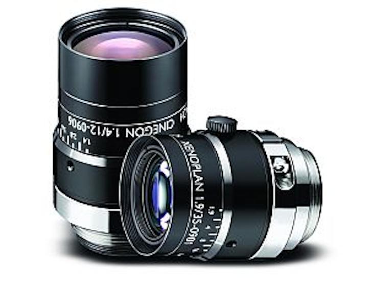 Schneider Optics C-mount lenses cover 400-1000 nm spectral range
