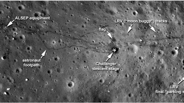 Wide-angle camera captures sharper images of moon landing sites