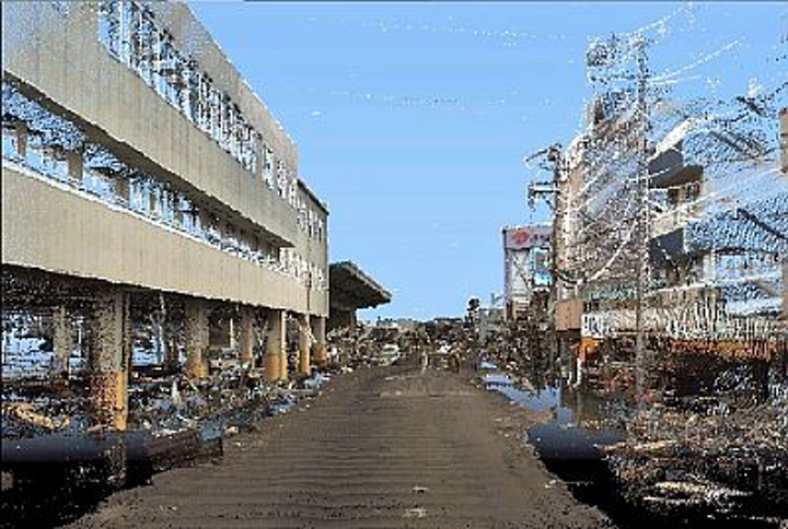 Imaging Japan with 3-D laser mapping system helps with quake damage assessment