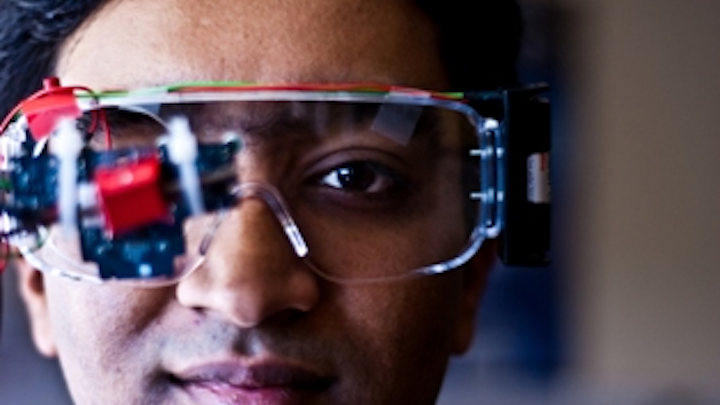 Head-mounted camera tracks eye movements to operate wheelchair
