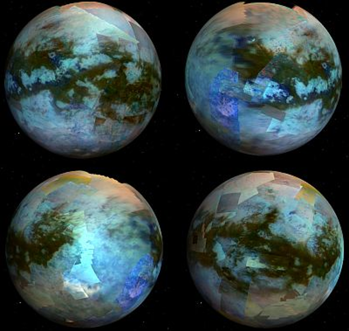 Research team pieces together the surface of Titan moon with Visual and Infrared Mapping Spectrometer (VIMS)