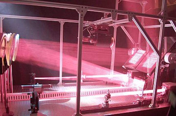 Vision-guided laser beaming powers remote vehicles (UAVs)