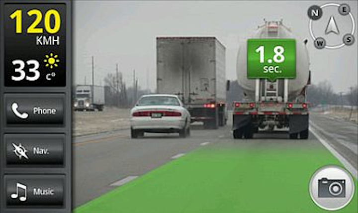 iOnRoad app turns Google Android smart phone into driver crash warning system