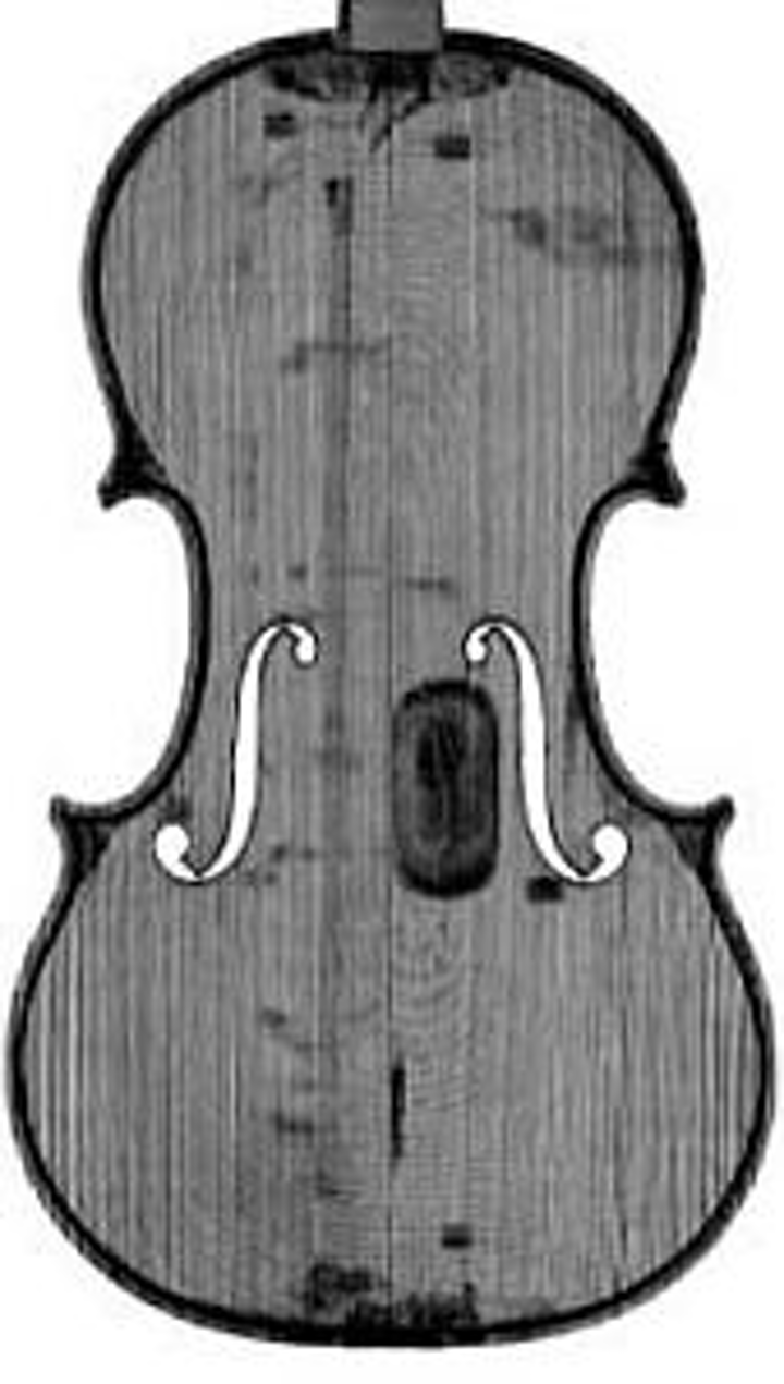 Using computed tomography (CT) imaging allows reproduction of a 1704 Stradivarius violin