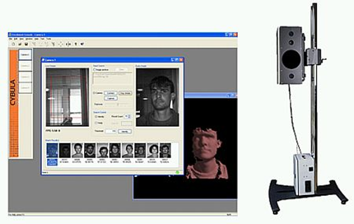 Cybula's face recognition system can match 3-D images to a 2-D image database