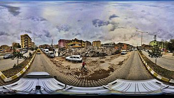 Cameras and Netcad software help create panoramas of disaster areas to aid relief efforts