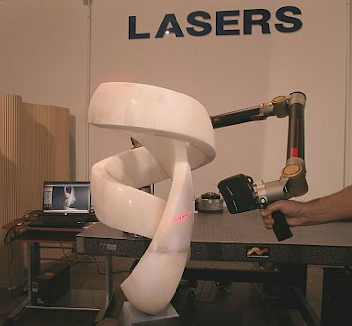 A Santa Fe-based master stone sculptor is using a laser-scanning service from NVision to enable him to capture and save his work as computer models