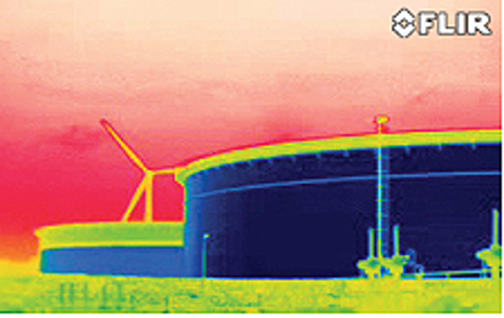 Optical gas detection camera reveals fugitive emissions