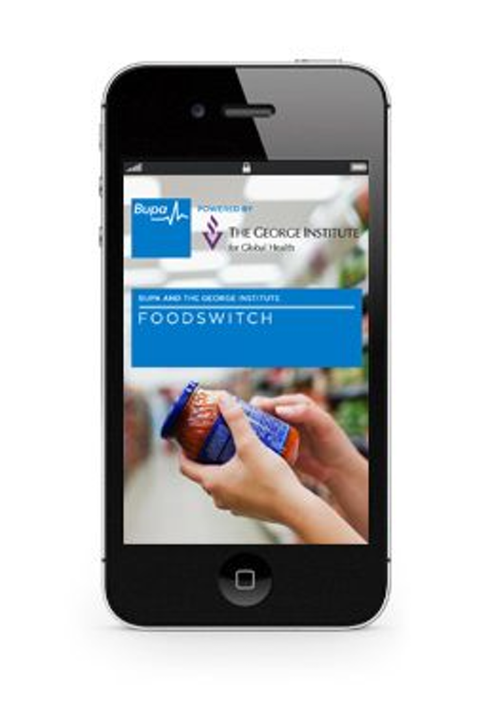 iPhone camera app helps Australians select healthier foods by scanning barcodes at the market.