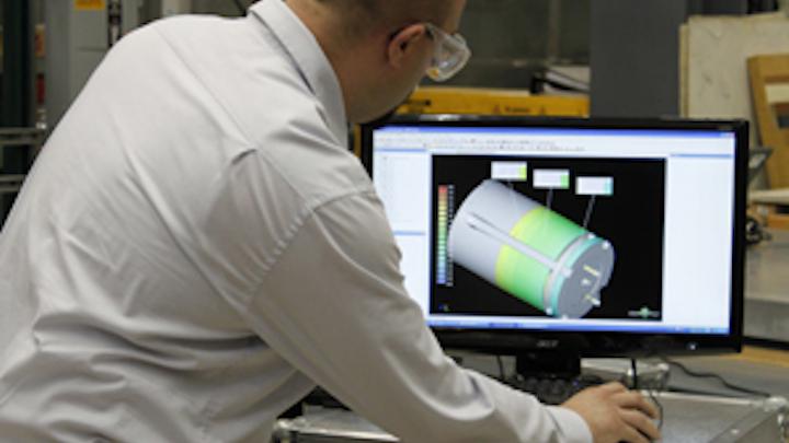 Shaft inspection using white-light scanning