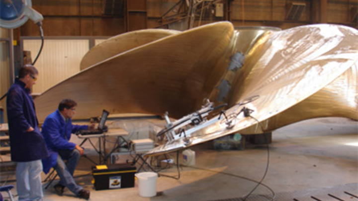 Imaging ships propellers