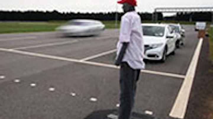 Dummy helps pedestrian recognition system development