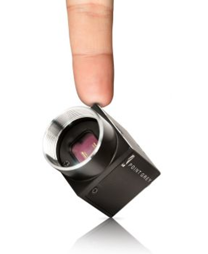 Point Grey Flea3 camera streams 2448 × 2048-pixel images at