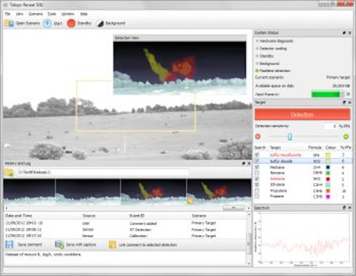Telops Reveal D&I real-time gas emissions detection software