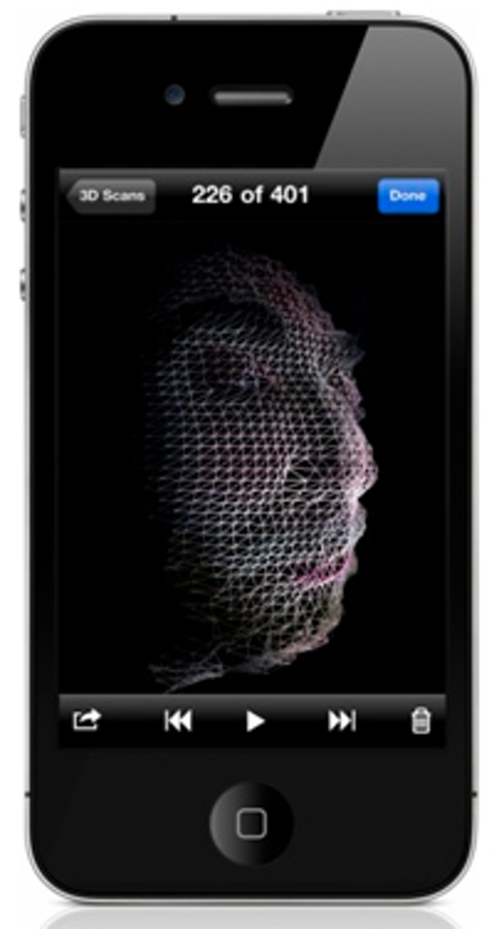 Software transforms iPhone into a 3-D scanner