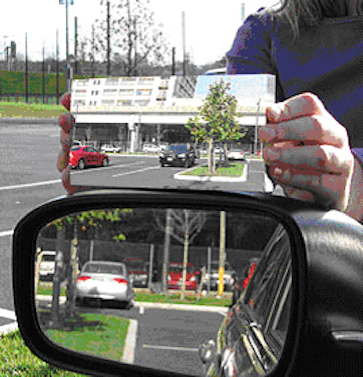 Algorithm helps eliminate blind spot in mirrors