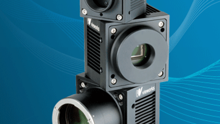 Vieworks VN cameras distributed by Vision Systems Technology use piezo-crystal stage to shift CCD for various resolutions