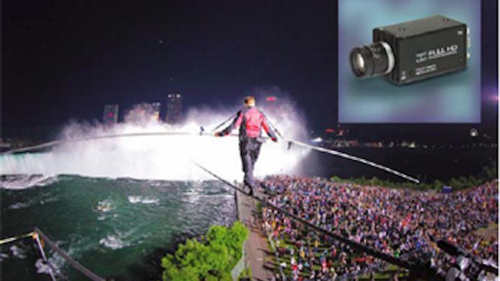 Camera captures Niagara tightrope walk