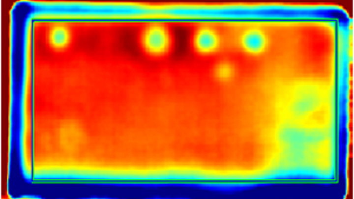 Imaging system spots defects in glass fiber reinforced plastic parts