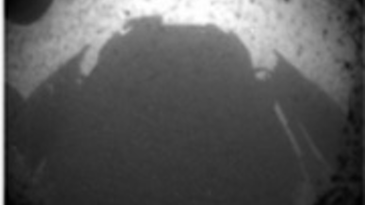 Rover returns first image from Mars