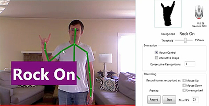 Neural chip helps Kinect make finger recognition a snap