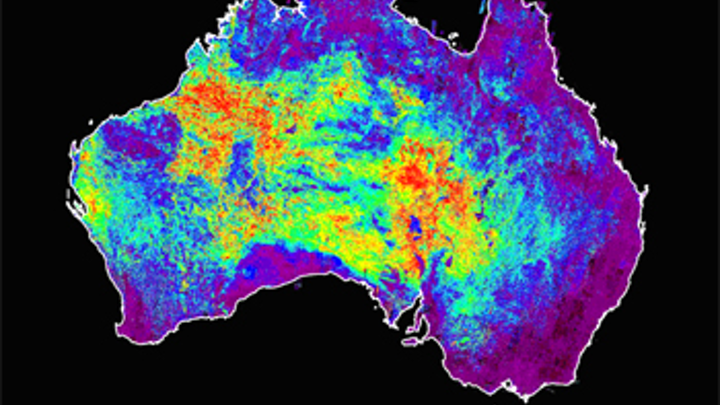 Mineral maps created from satellite imaging data