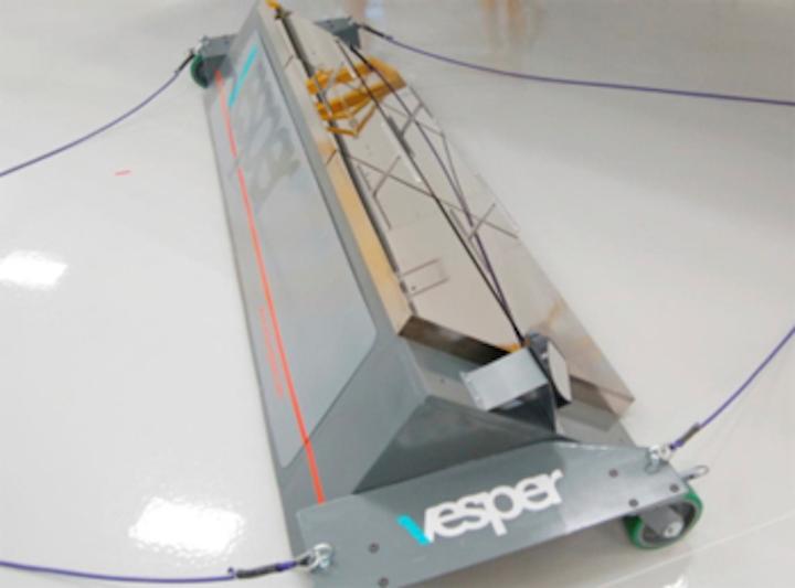 Measurement system verifies spec of space sunshield