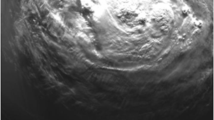 Space camera captures close up of hurricane Isaac