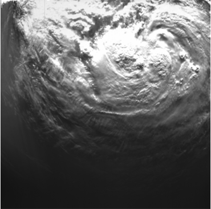 Space camera captures close up of hurricane Isaac