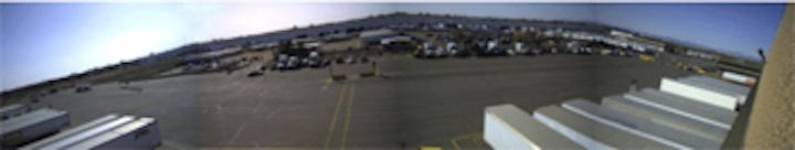 IP cameras monitor warehouse operations