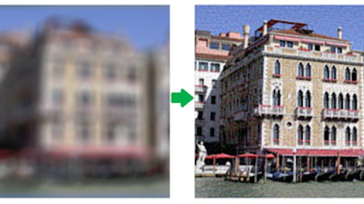 Software restores blurred images