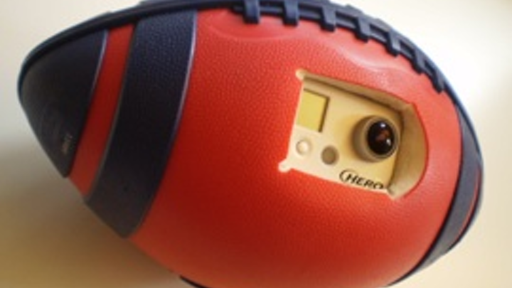 Researchers from Carnegie Mellon University and the University of Electro-Communications have shown that a camera embedded in the side of a rubber-sheathed plastic foam football can record video while the ball is in flight, along with developing a computer algorithm that converts the raw video into a stable, wide-angle view.