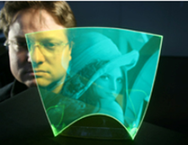 Image sensor created from flexible, transparent polymer