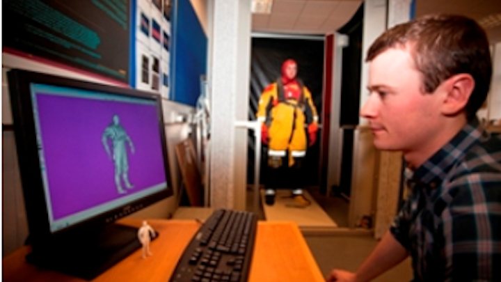 Offshore workers scanned in 3-D