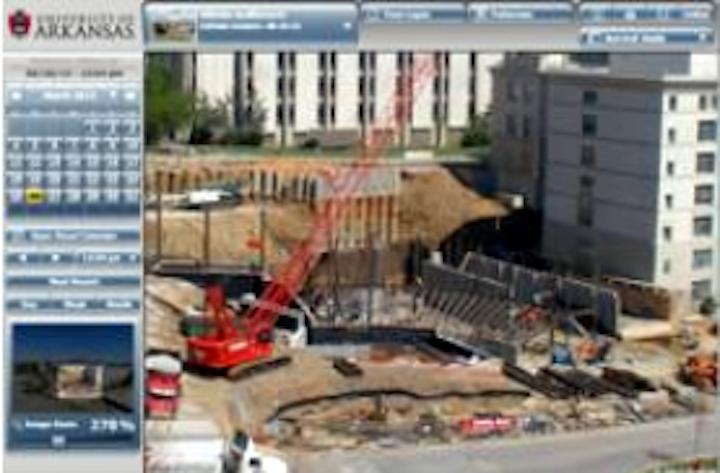 Cameras help monitor construction