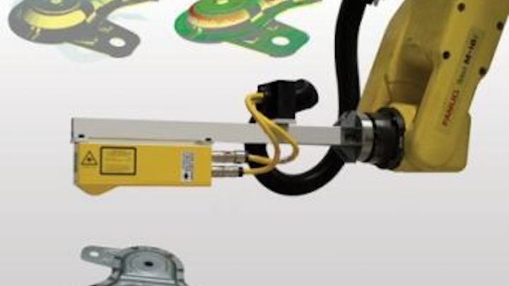 Bluewrist in-line system scans for 3-D inspection and measurement on plant floor