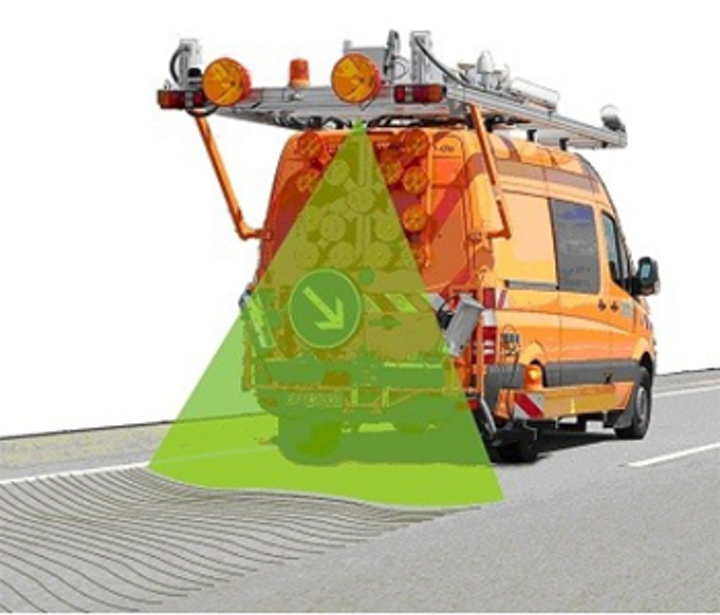 Scanner measures evenness of roads