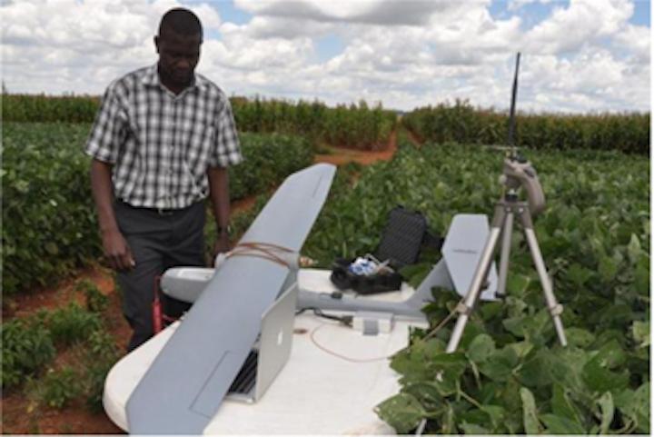 UAV tracks growth of maize