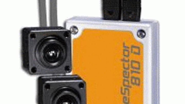 Dual sensor heads in EVT smart camera support 3-D imaging applications