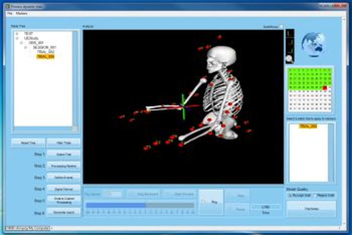 Orbis software enables motion-capture data analysis