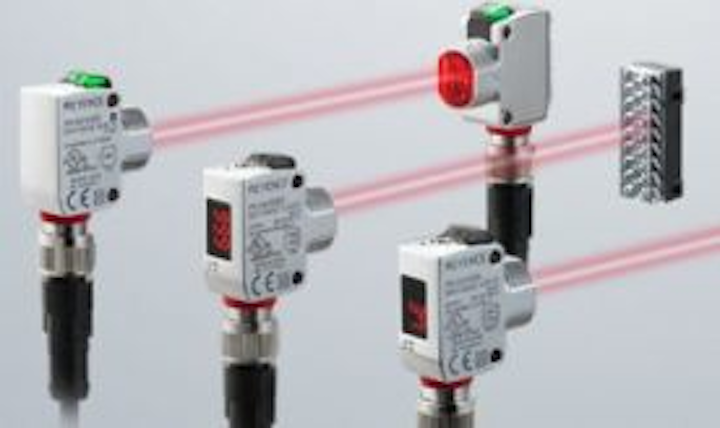 Self-contained photoelectric sensors from Keyence designed