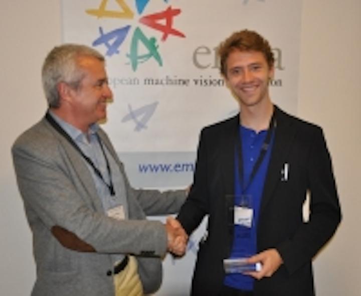 Pictured: 2014 Young Professional award winner Jakob Engel with Toni Ventura, EMVA president Visit the EMVA website.