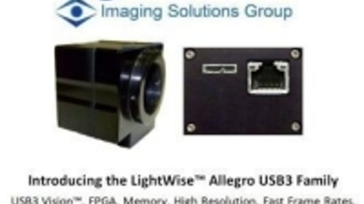 USB3 Vision cameras from Imaging Solutions Group now compatible with