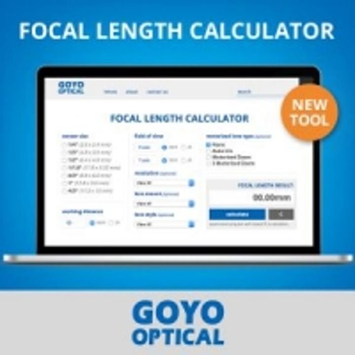 Focal length calculator provides lens options for vision systems