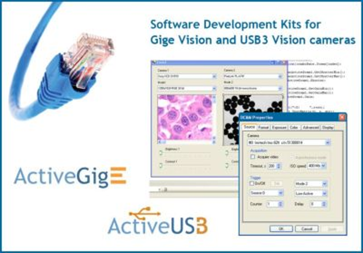 GigE Vision and USB3 Vision SDKs from A&B Software feature