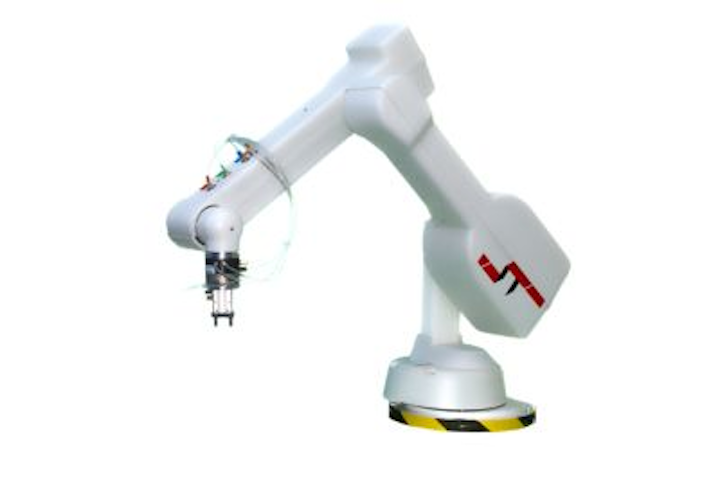 Articulated robot arm from ST Robotics features increased speeds