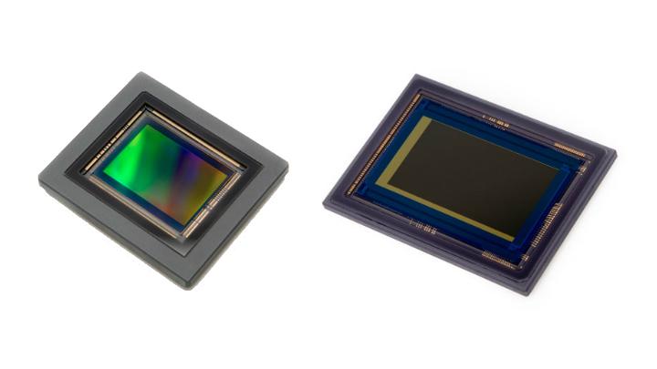 120MXSI (left) and 35MMFHDXSMA (right) image sensors