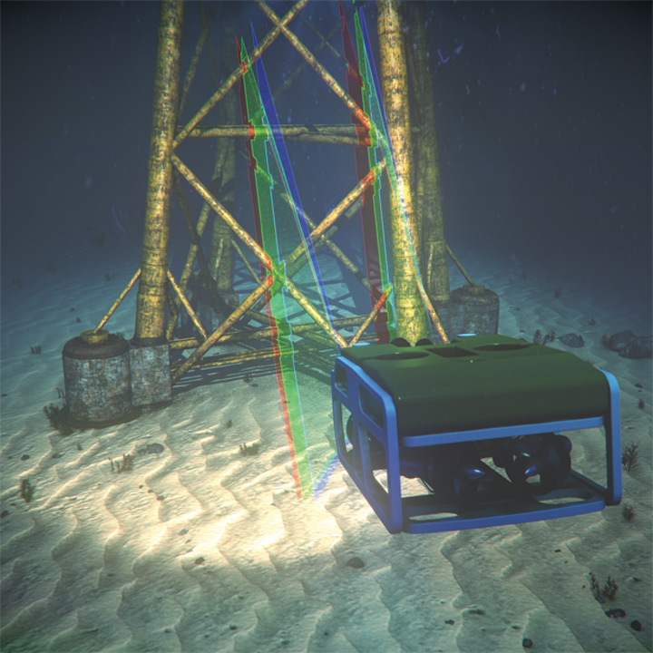 Kraken Robotic's SeaVision system uses RGB lasers and off-the-shelf cameras to enable subsea 3D imaging.