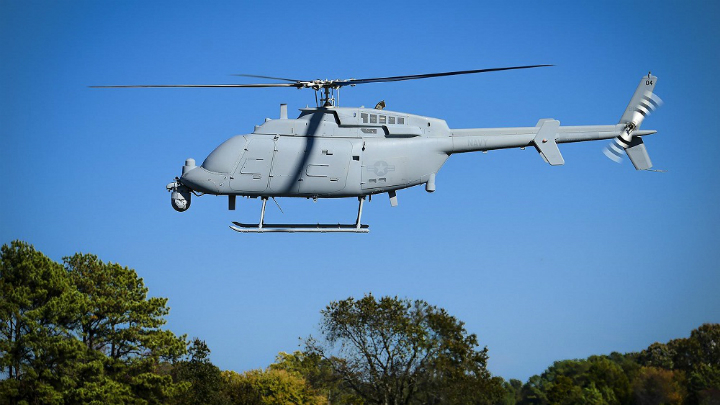 The MQ-8C Fire Scout unmanned helicopter.